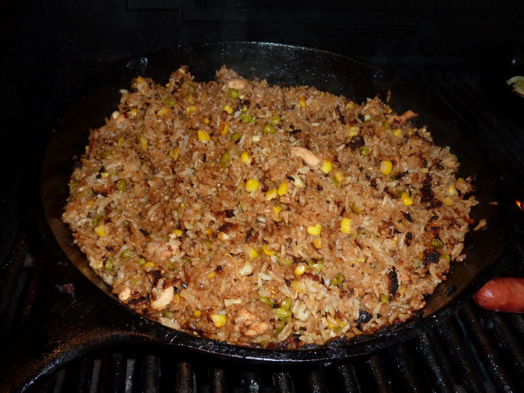 grilled fried rice